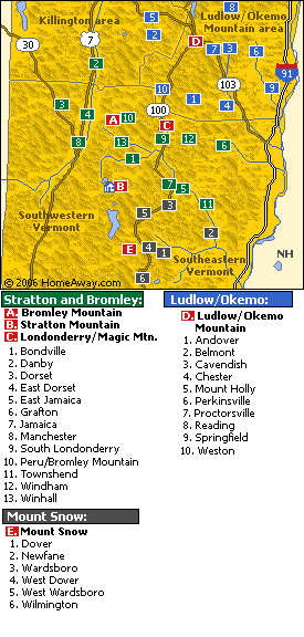 map of vermont mountains. map of vermont ski resorts