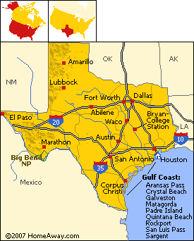 Texas Geography Map