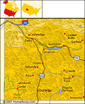 Pagosa+springs+co+map