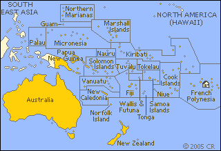 French polynesia on the world map
