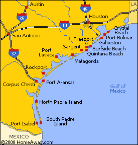 Texas Beaches Map Bnhspine